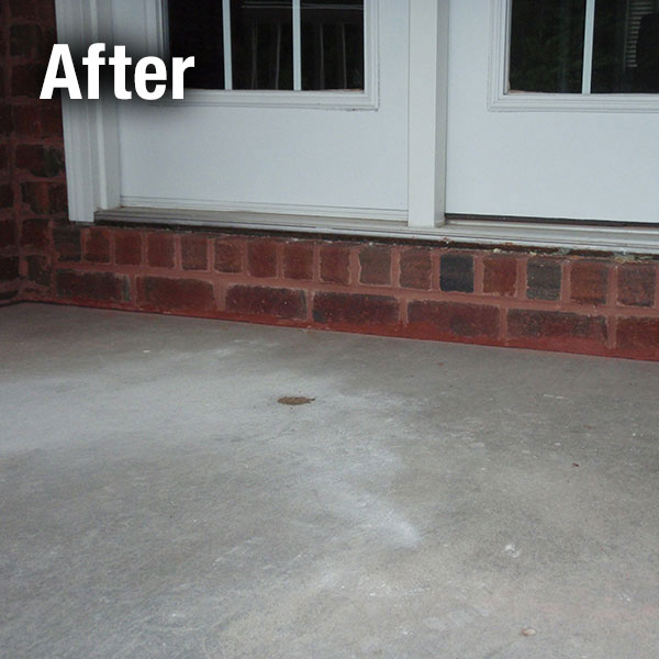 Colorado Springs Concrete Porch Leveling - After