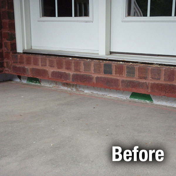 Colorado Springs Concrete Porch Leveling - Before