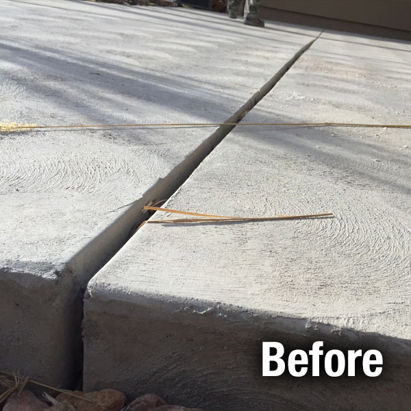 Concrete Driveway Caulking Colorado Springs - Before